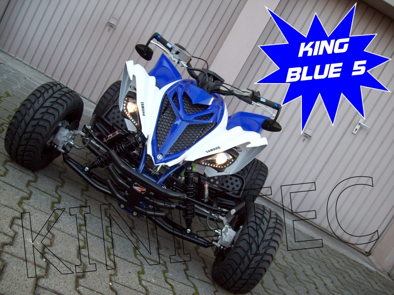 Black Blue Shock Covers Yamaha Raptor YFM 250 350 660 R Limited Edition