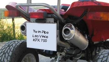 Erste-Hilfe-Set Twin-Pipe LeoVince (Kawasaki KFX 700)