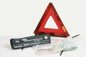 Erste-Hilfe KFZ-Kombitasche mit Warndreieck (Universal)