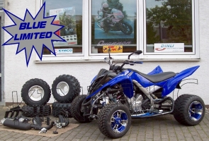 Yamaha Quad YFM 700R Blue-Limited (LoF) Sport-Edition 2x bereift