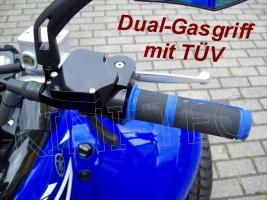 Dual-Gasgriff  1 Griff = 2 Funktionen mit TÜV (universal)