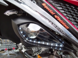 Scheinwerfer Set Ellipsoid mit E-Zulassung (Yamaha Raptor 350)