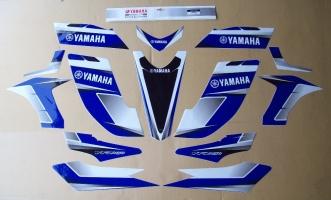 Aufklebersatz / Dekorkit Yamaha YFZ 450 (blau/weiss/schwarz)