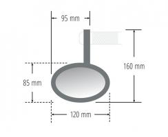 Rückspiegel Lenkerende Alu PWHSF2 (universal)