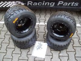Felgen-Reifen-Satz VBW-Sport 10x8/10x10 schwarz-matt (Yamaha R 700)