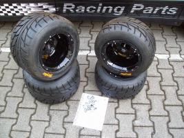 Felgen-Reifen-Satz VBW-Sport 10x8/10x10 schwarz-glanz (Yamaha R 700)