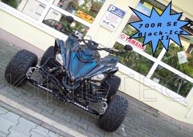 Yamaha Quad YFM 700R SE Black-Ice II (LoF-Zulassung) 2x bereift tief + breit