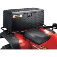 Koffer Box hinten (Moose) Aluminium Riffelblech schwarz universal