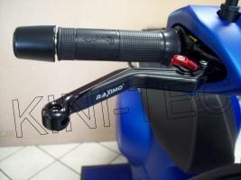 Bremshebel Set einstellbar RAXIMO BCE mit ABE + Ventilkappen (Vespa Piaggio GTS 300)